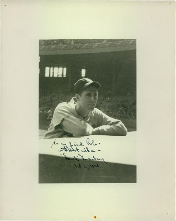 1938 Hank Greenberg Signed Photo