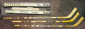 1979-80 Taylor, Simmer & Dionne LA Kings Game Used Sticks (3)