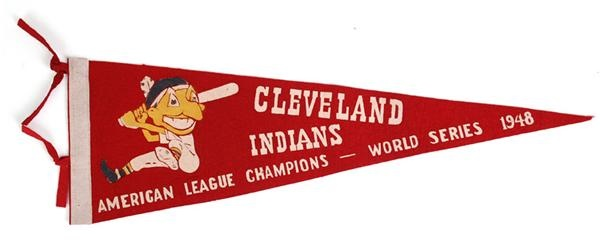 1948 Cleveland Indians World Series Pennant