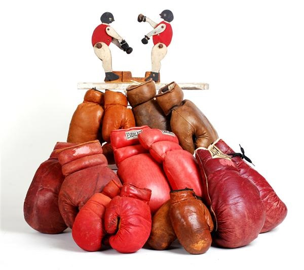 Early 1900s Boxing Glove & Folk Art Collection
