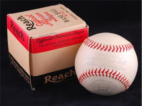 Unused 1950's Harridge OAL and Giles ONL Baseballs In Original Box (2)