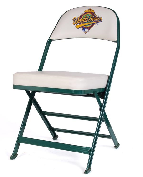 Pair of 1996 World Series Chairs Used in Field Boxes