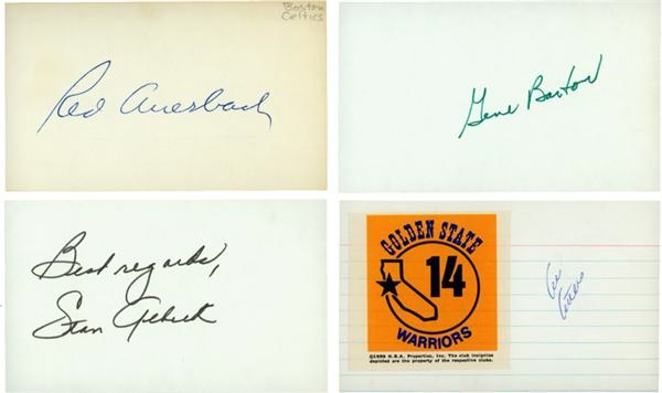 Collection of Pro and College Basketball Coaches Signed 3x5