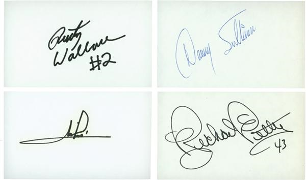 Collection of Auto Racing Signed 3x5