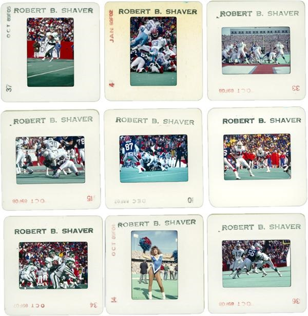 Large Collection of 1988-1989 NFL Football Slides (1,200+)