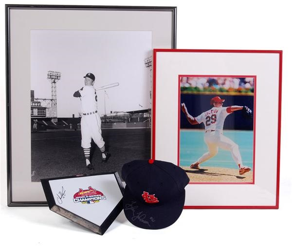 St Louis Cardinals Memorabilia Collection with Stadium Artifacts (4)