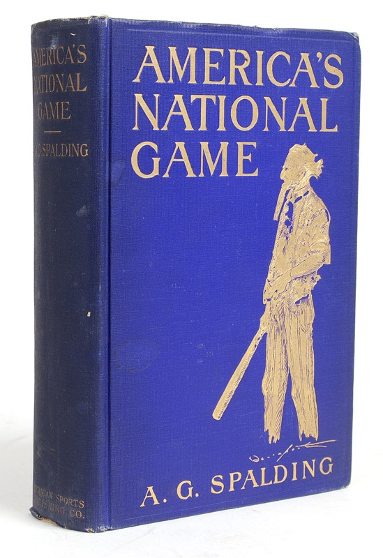 A.G. Spalding's America's National Game signed by his wife