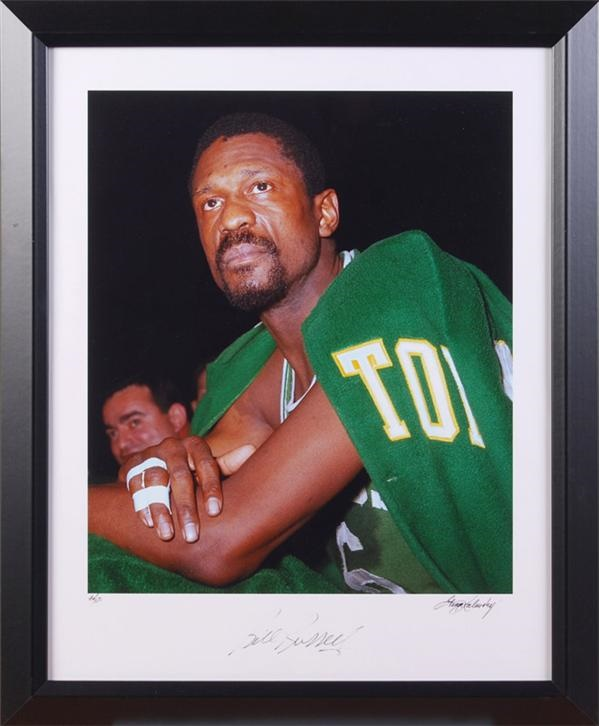 Bill Russell Signed Ltd Ed Color Print by George Kalinsky