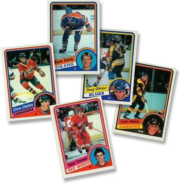 1974-75 to 1984-85 OPC and Topps Hockey Card Sets (5)