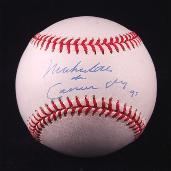 Muhammad Ali AKA Cassius Clay Single Signed Baseball