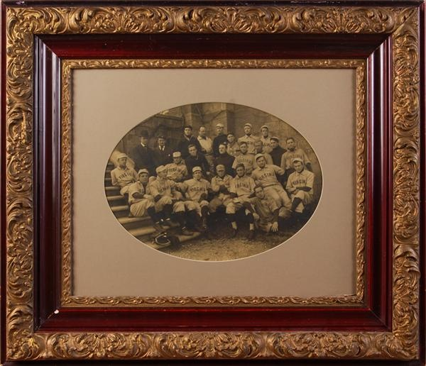 Very Nice Circa 1910 University of Virginia Baseball Team Imperial Cabinet Photo