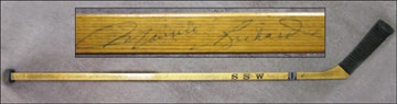 1950's Montreal Canadiens Team Signed Henri Richard Stick