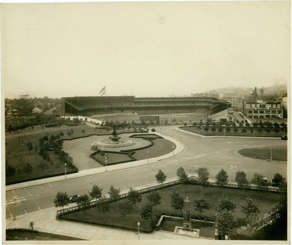 Amazing Early Forbes Field Pittsburgh Stadium Photograph (1910's)