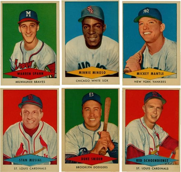 1954 Red Heart Baseball Card Set 33
