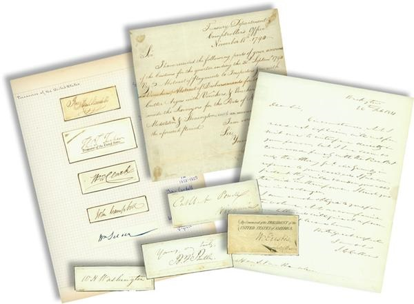 18th and 19th Century Historical Signed Document Collection with John C. Calhoon ALS (59)