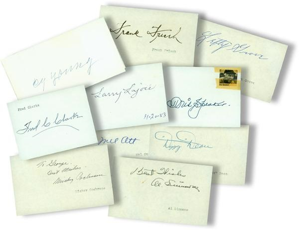 Baseball Hall of Famer Signature Collection with Cy Young and Mel Ott (10)