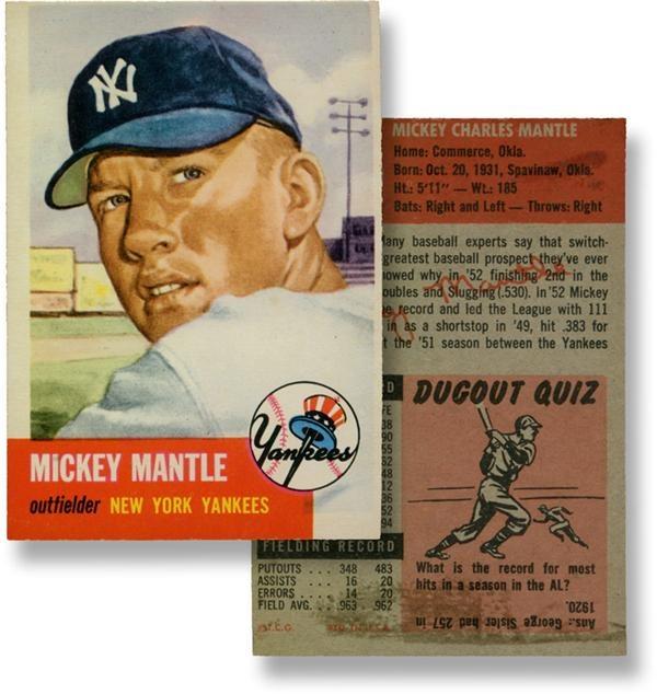 1953 Topps Mickey Mantle Baseball Card