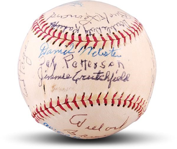1982 Negro League Reunion Signed Baseball  with Willard Brown