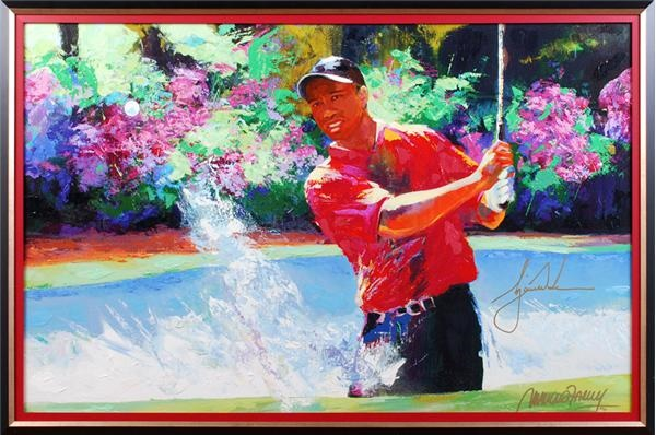 Tiger Woods Signed Giclee by Malcolm Farley