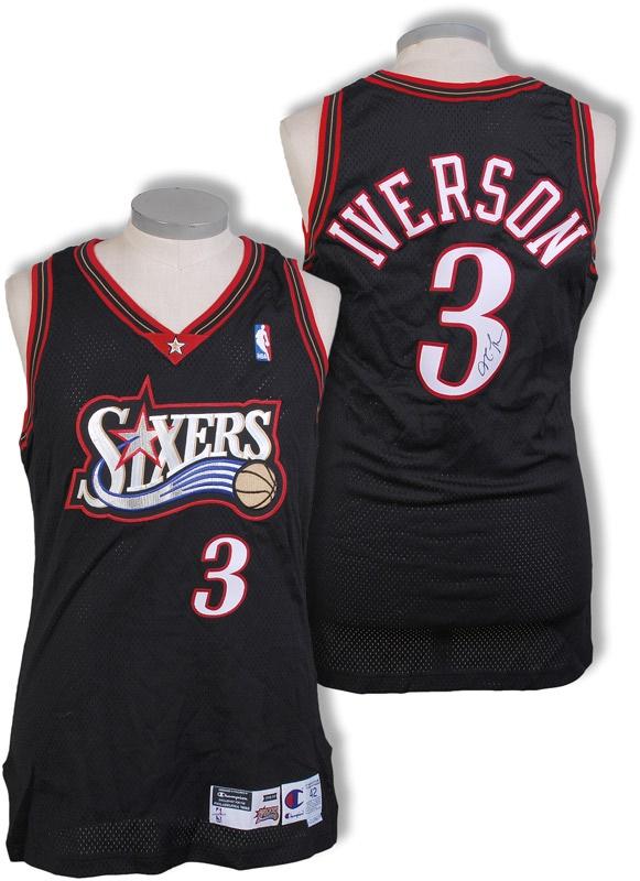 timeless design 2f7d1 b0b13 1998-99 Allen Iverson Philadelphia 76ers Game Worn Jersey