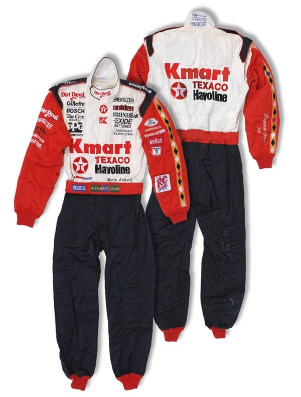 Mario Andretti's Last Ever Indy Car Race Worn Driving Suit