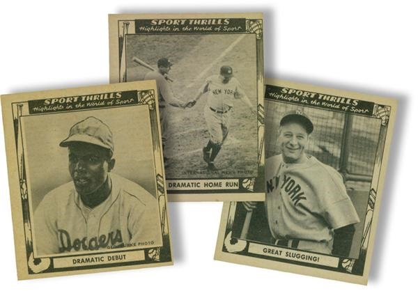 1948 Swell Sport Thrills Baseball Card Complete Set