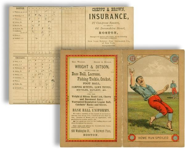 1880's Boston Bean Eaters Scorecard