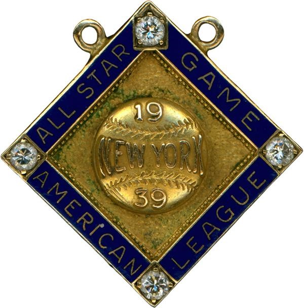 1939 Baseball All Star Game Presentational Pin