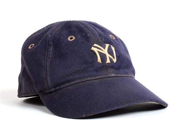 67cd912dee0 1930's Lou Gehrig Game Worn New York Yankees Cap