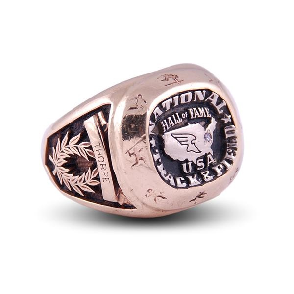 Jim Thorpe's National Track & Field Hall of Fame Gold & Diamond Ring
