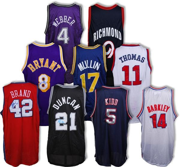 Signed Basketball Jersey Collection (9)