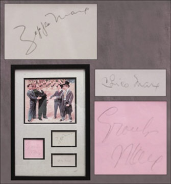 The Marx Brothers Signed Display (12x18
