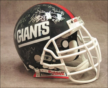 1990 New York Giants Team Signed Helmet