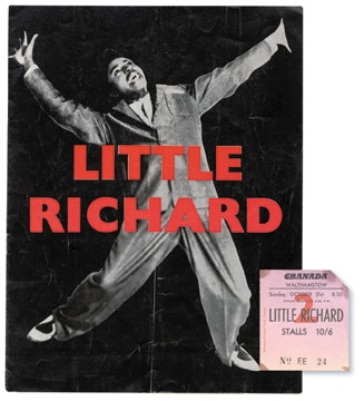 1962 Little Richard Sam Cooke Program and Stub (2)