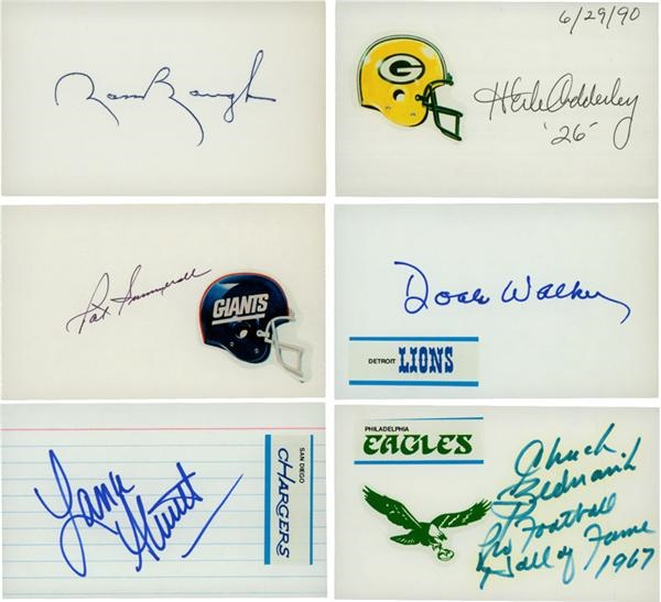 Collection of Pro Football Signed 3x5