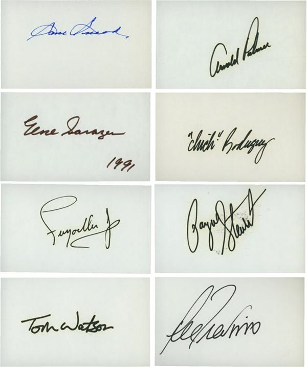 Collection of Golf Greats Signed 3x5