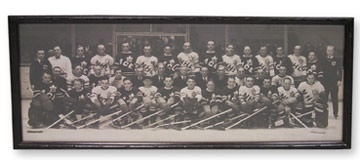 1934 Ace Bailey Benefit Game All Star Team Panoramic Photograph (8x20