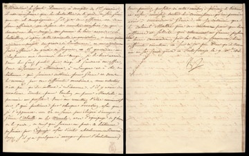 1814 Napoleon Bonaparte Year of Abdication Handwritten Letter