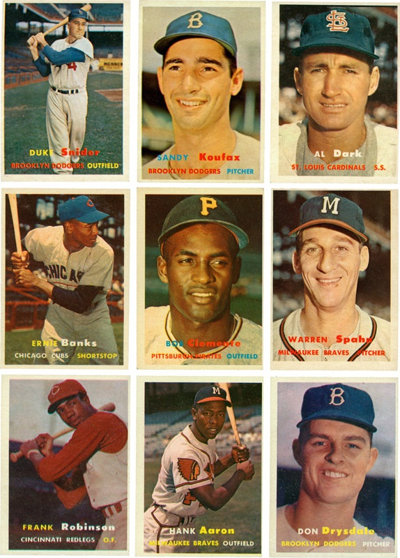 1957 Topps Baseball Card High Grade Partial Set (313/407)