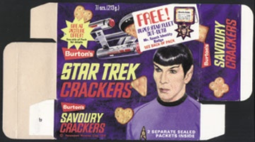 1970 Star Trek Cracker Box