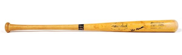 1973 Hank Aaron Game Used Bat