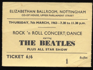 March 7, 1963 Ticket