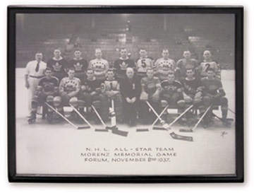 1937 Howie Morenz Memorial Game All Star Team Photograph (11x14