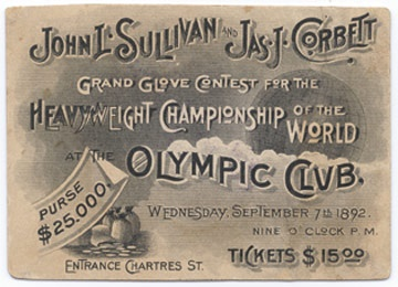 1892 Sullivan & Corbett Full Ticket