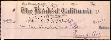 1935 Ty Cobb Signed Check