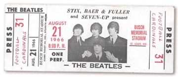 August 21, 1966 Press Ticket