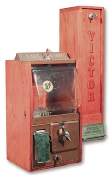 1950's Victor Baseball Card Vending Machine