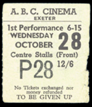 October 28, 1964 Ticket
