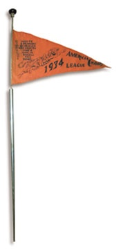 1934 Detroit Tigers Mechanical Pennant Cane
