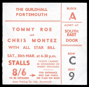March 30, 1963 Ticket